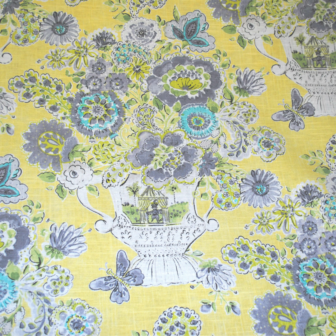 Blissful Bouquet – Lemon Meringue - Designer Fabric from the Best Online Fabric Store