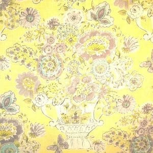 Blissful Bouquet - Lemon Meringue - Discount Designer Fabric - fabrichousenashville.com