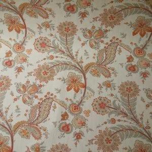 Cottingham (Sarah Richardson) - Coral - Discount Designer Fabric - fabrichousenashville.com