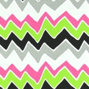 See Saw - Candy Pink / Chartreuse - Discount Designer Fabric - fabrichousenashville.com