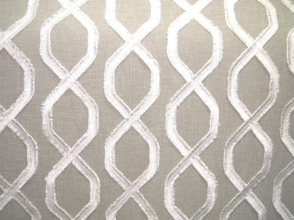 Carrington (Sheer) - Stone - Discount Designer Fabric - fabrichousenashville.com