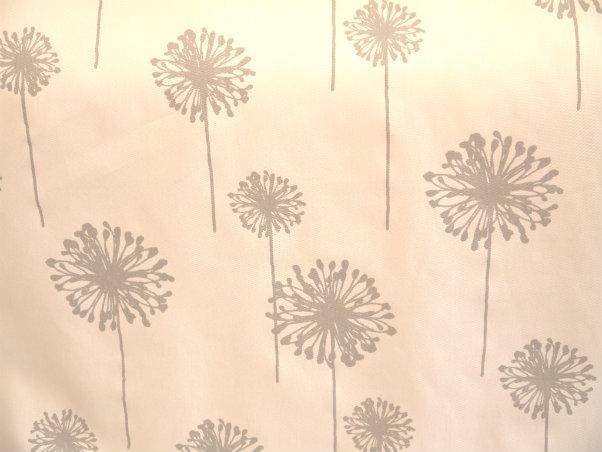 Dandelion - White / Storm Twill - Discount Designer Fabric - fabrichousenashville.com