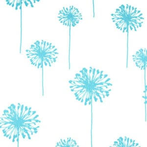 Dandelion - Girly Blue Twill - Discount Designer Fabric - fabrichousenashville.com
