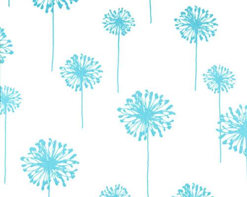 Dandelion - Girly Blue Twill - Discount Designer Fabric - fabrichousenashville.com