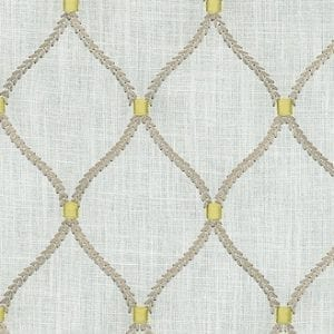 Deane Embroidery - Porcelain - Discount Designer Fabric - fabrichousenashville.com
