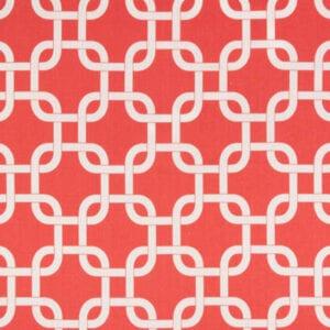 Gotcha - Coral White - Discount Designer Fabric - fabrichousenashville.com