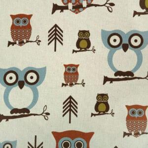 Hooty - Village / Natural - Discount Designer Fabric - fabrichousenashville.com