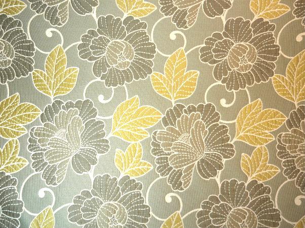 Lotus - Pewter - Discount Designer Fabric - fabrichousenashville.com