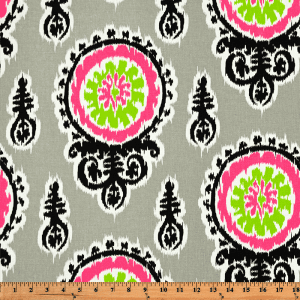 Michelle - Candy Pink / Chartreuse - Discount Designer Fabric - fabrichousenashville.com