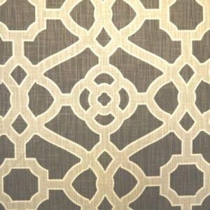 Pavilion Fretwork - Noir - Discount Designer Fabric - fabrichousenashville.com