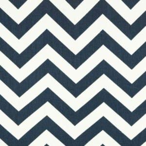 Zig Zag - Blue / Twill - Discount Designer Fabric - fabrichousenashville.com