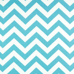 Zig Zag - Girly Blue Twill - Discount Designer Fabric - fabrichousenashville.com
