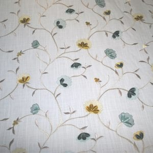 Embroidery Heirloom - Peacock - Designer Fabric from the Best Online Fabric Store