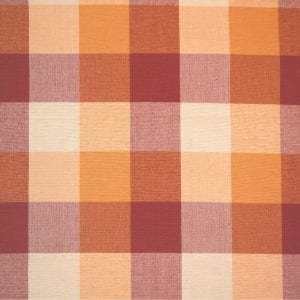 Foursquare Plaid - Rust / Orange - Discount Designer Fabric - fabrichousenashville.com