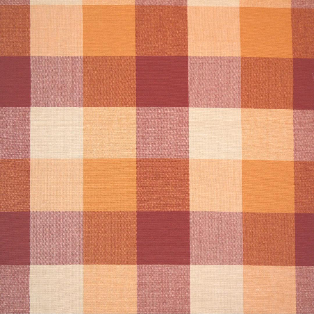 Foursquare Plaid - Rust / Orange - Discount Designer Fabric - fabrichousenashville.com