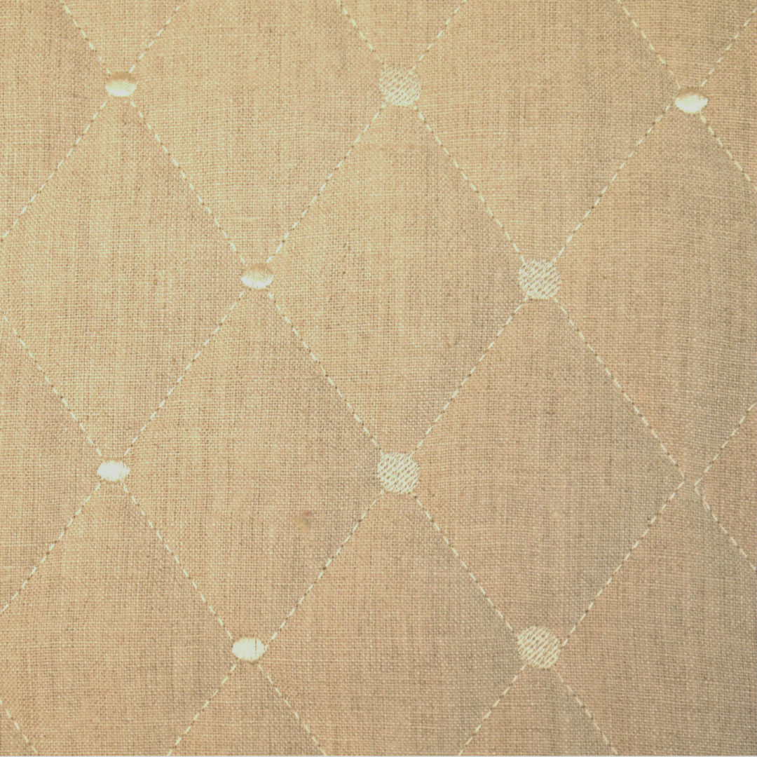Rhombus - Linen (Quilted) - Discount Designer Fabric - fabrichousenashville.com