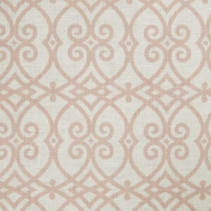 Fabric 2616 Blush With Designer And Trim Drapery Hardware