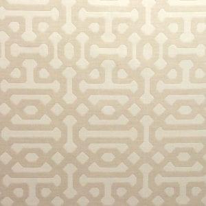 Sunbrella - Fretwork - Flax - Discount Designer Fabric - fabrichousenashville.com
