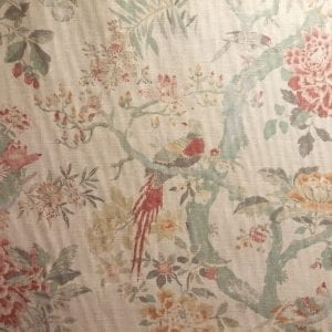 Arielle Woodland colorful fabric featuring birds in trees from The Fabric House - Discount Designer Fabric, online fabric store, buy fabric online
