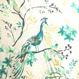 Tailfeathers - Peacock - Discount Designer Fabric - fabrichousenashville.com