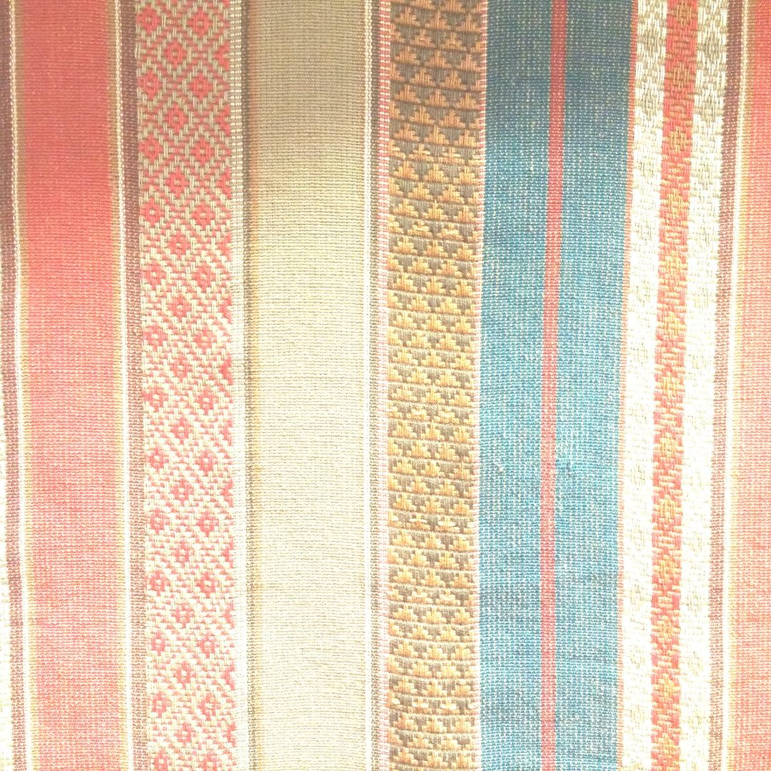 Gypsy Stripe - Red / Turquoise / Khaki | Fabric store with ...