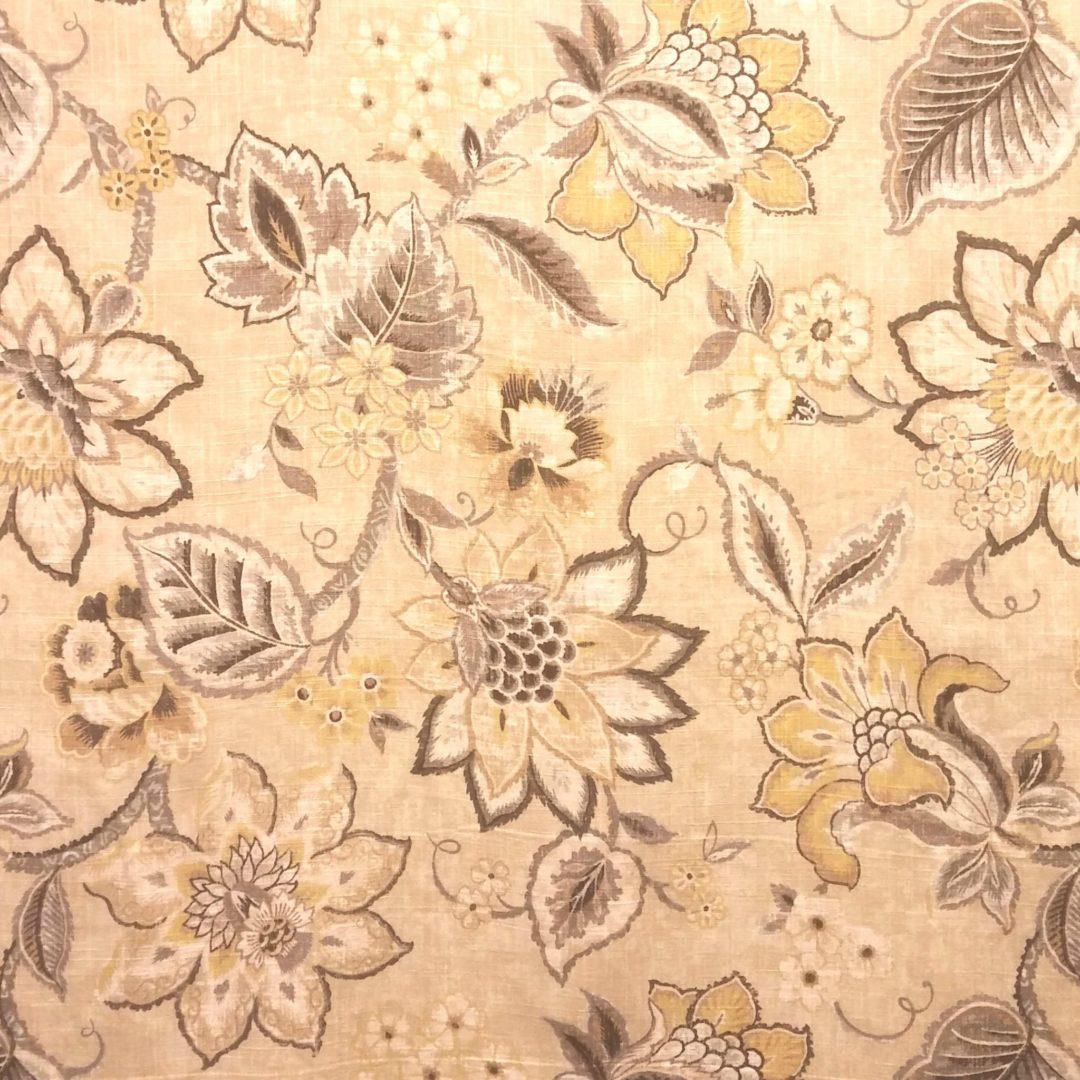 Brighton Blossom - Flax - Discount Designer Fabric - fabrichousenashville.com