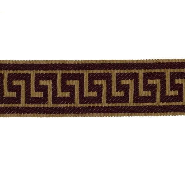 Athens Key - Merlot - Discount Designer Fabric - fabrichousenashville.com