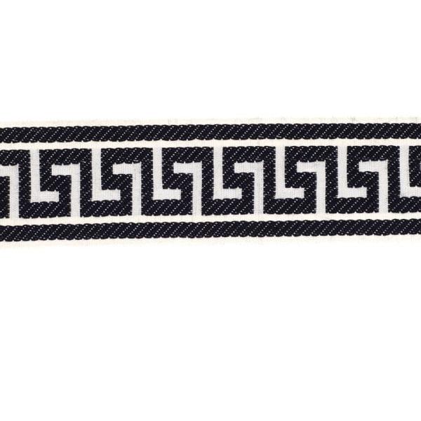 Athens Key - Navy - Discount Designer Fabric - fabrichousenashville.com