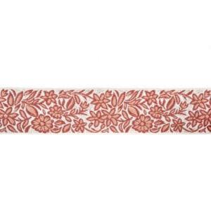 Gillyflower - Coral - Discount Designer Fabric - fabrichousenashville.com