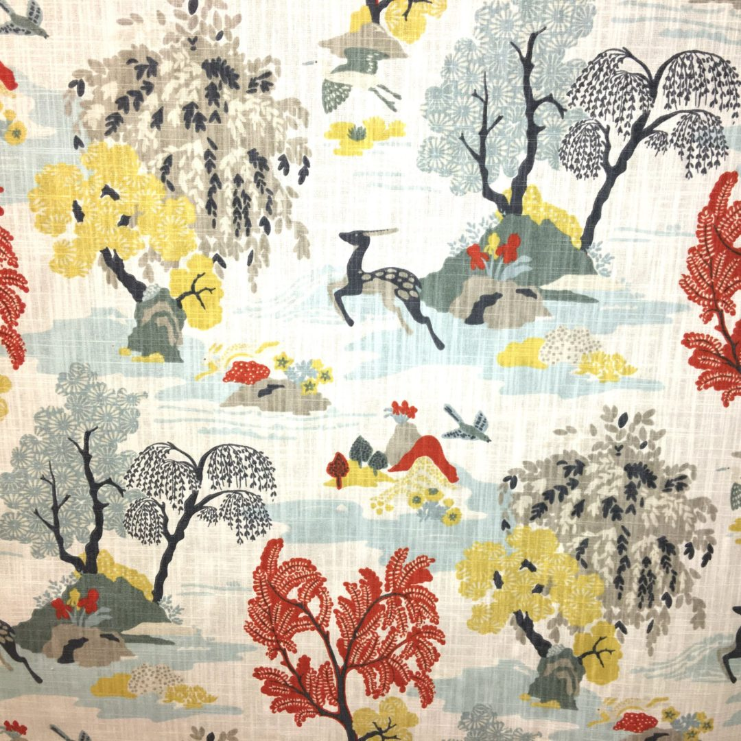 Modern toile persimmon nashville tn fabric store for Designer fabric store