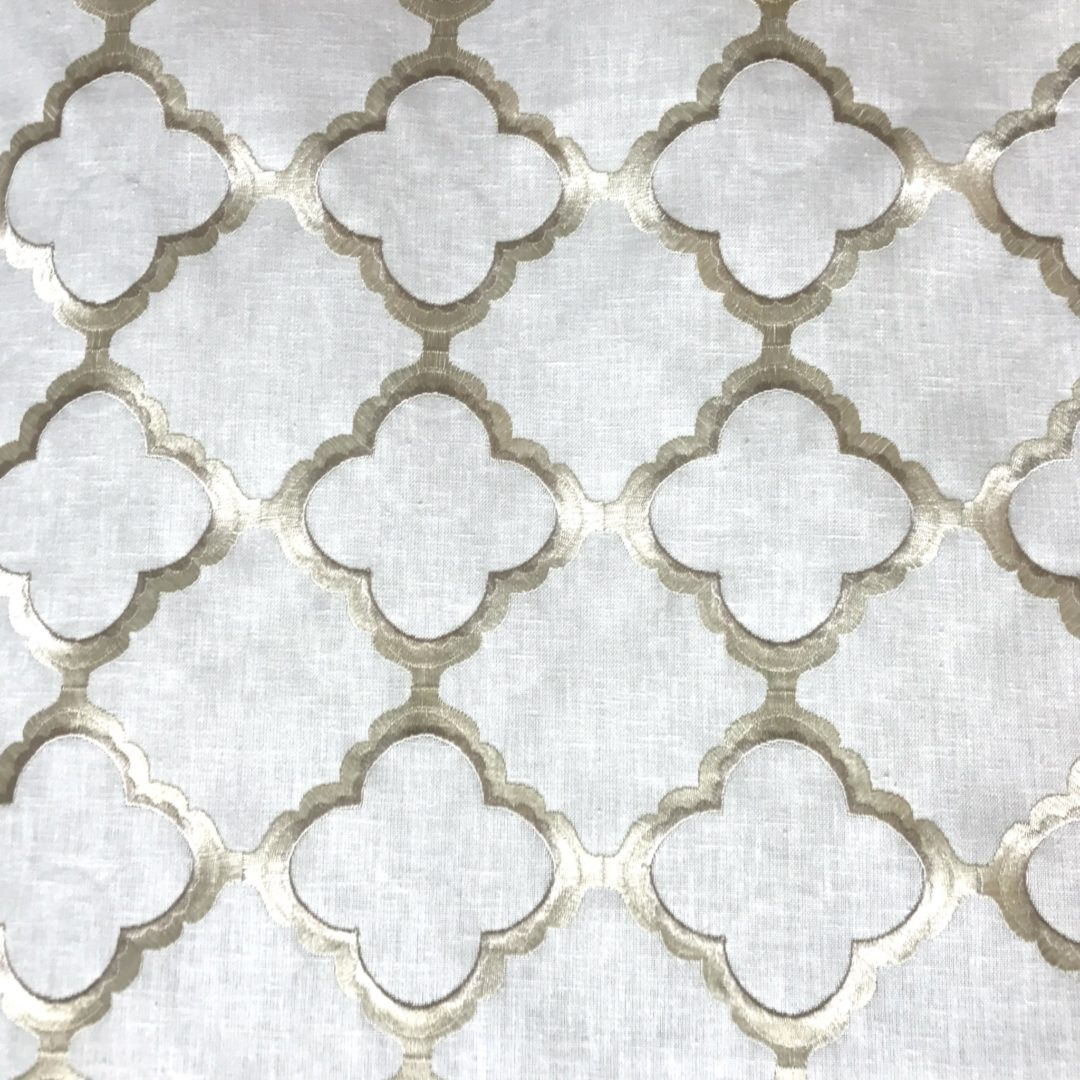 Hope Embroidery - Off-White - Discount Designer Fabric - fabrichousenashville.com
