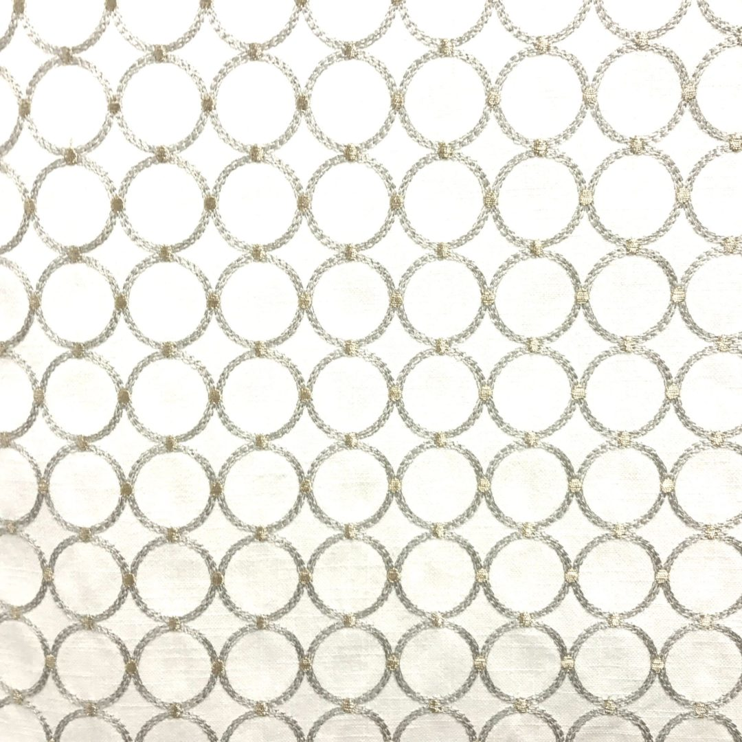 Ringtone Embroidery - Mineral - Discount Designer Fabric - fabrichousenashville.com
