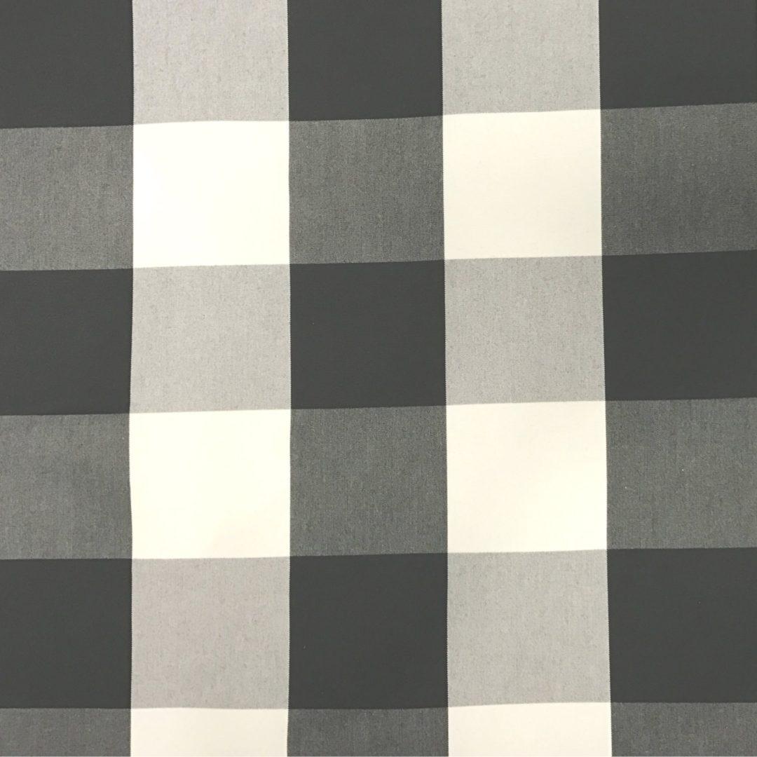 Checkmate - Black Cream - Discount Designer Fabric - fabrichousenashville.com