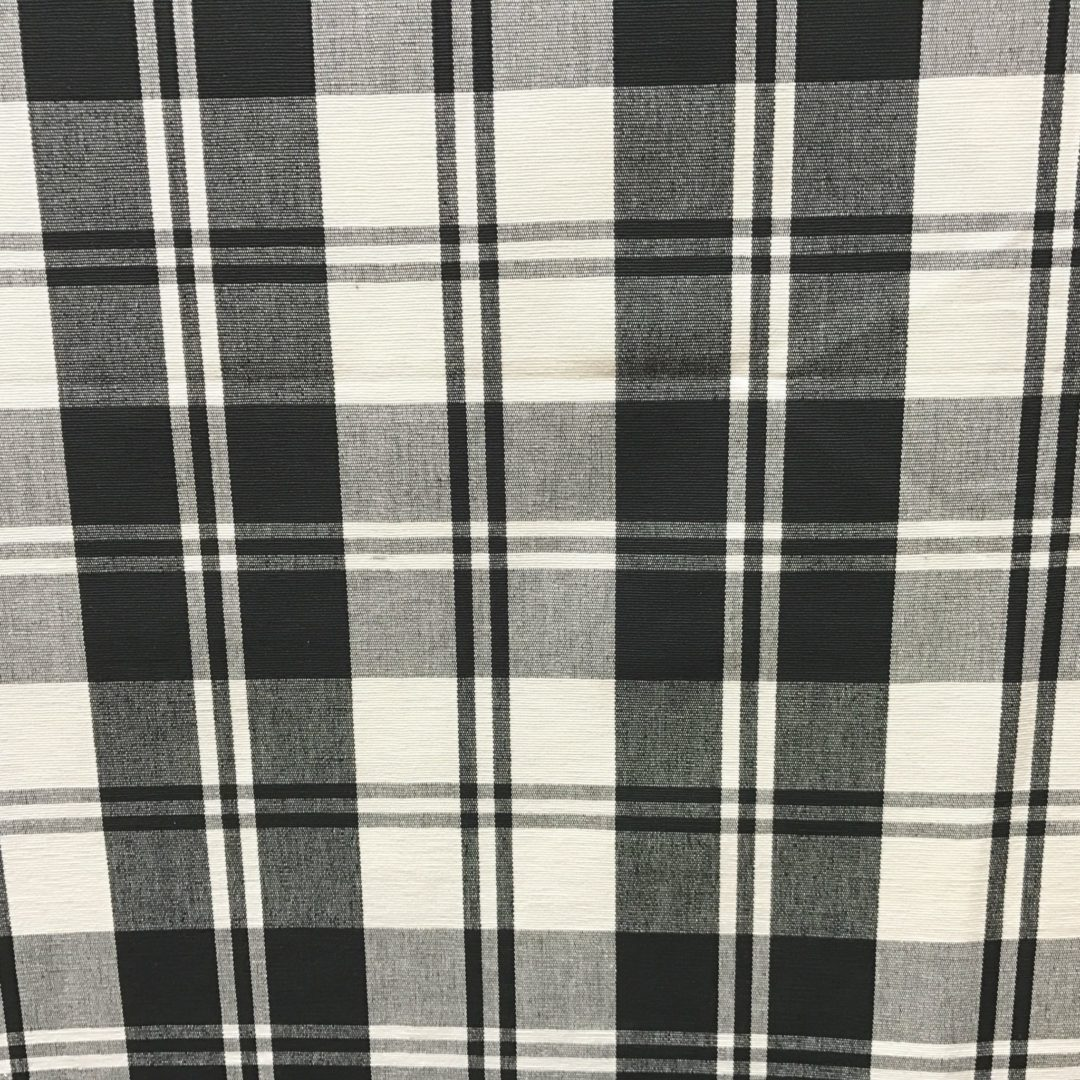 Classic Plaid - Black White - Discount Designer Fabric - fabrichousenashville.com