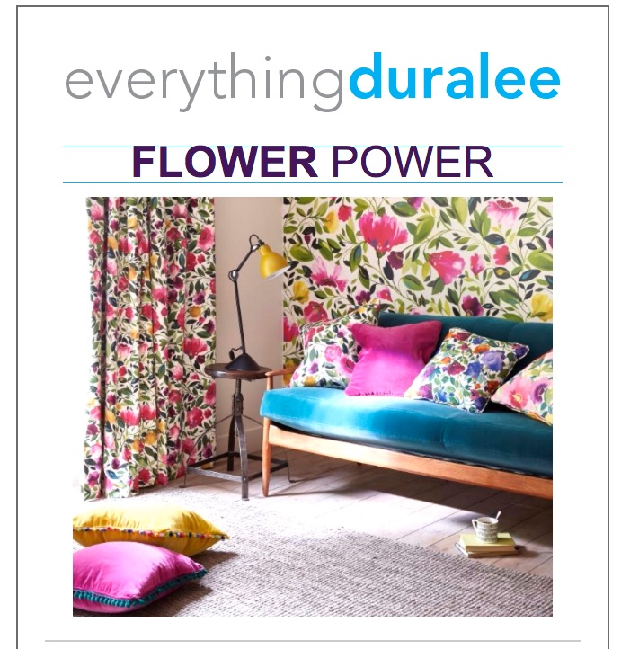 Everything Duralee Flower Power, fabric store in Nashville, TN and Louisville, KY for decorator and upholstery fabric, drapery hardware and more!
