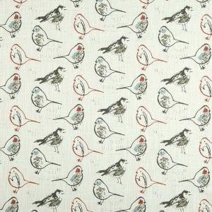 Bird Toile - Scarlet - Discount Designer Fabric - fabrichousenashville.com
