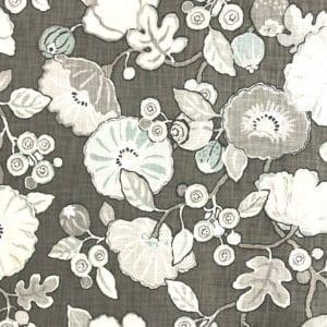 Hip Floral - Charcoal - Discount Designer Fabric - fabrichousenashville.com