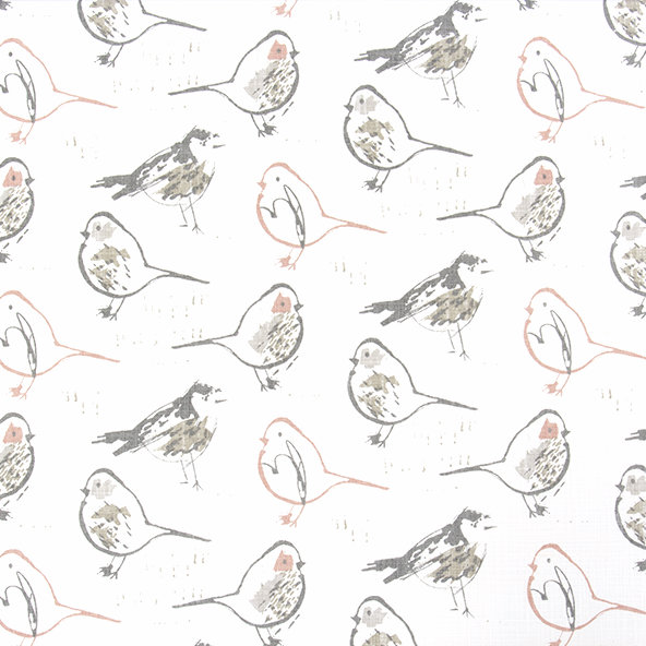 Bird Toile - Blush - Discount Designer Fabric - fabrichousenashville.com