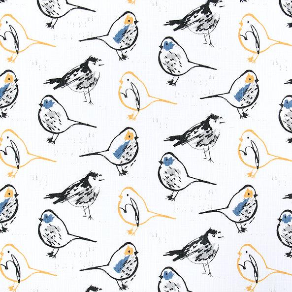 Bird Toile - Brazilian Yellow - Discount Designer Fabric - fabrichousenashville.com