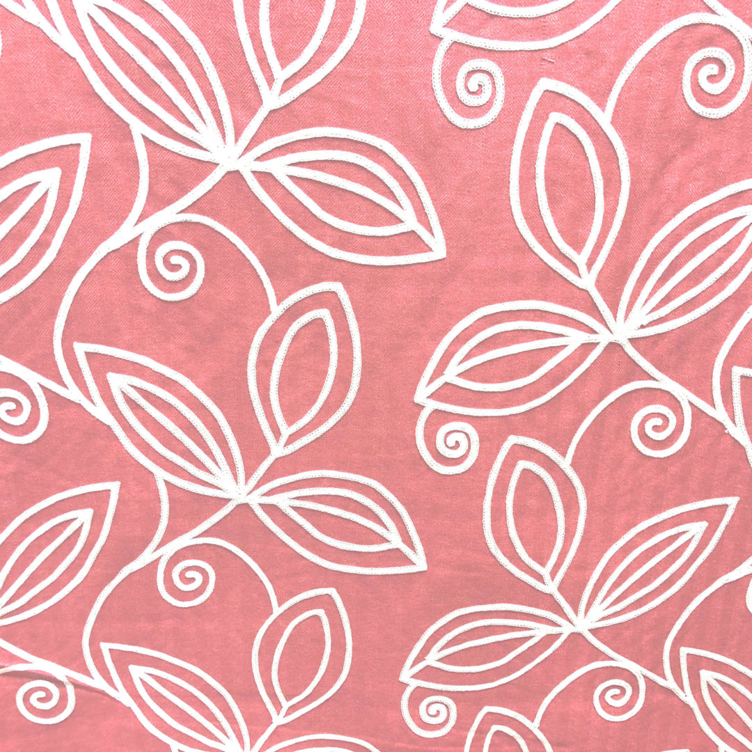 Botanique - Coral from The Fabric House, online fabric store, designer fabric, buy fabric online.