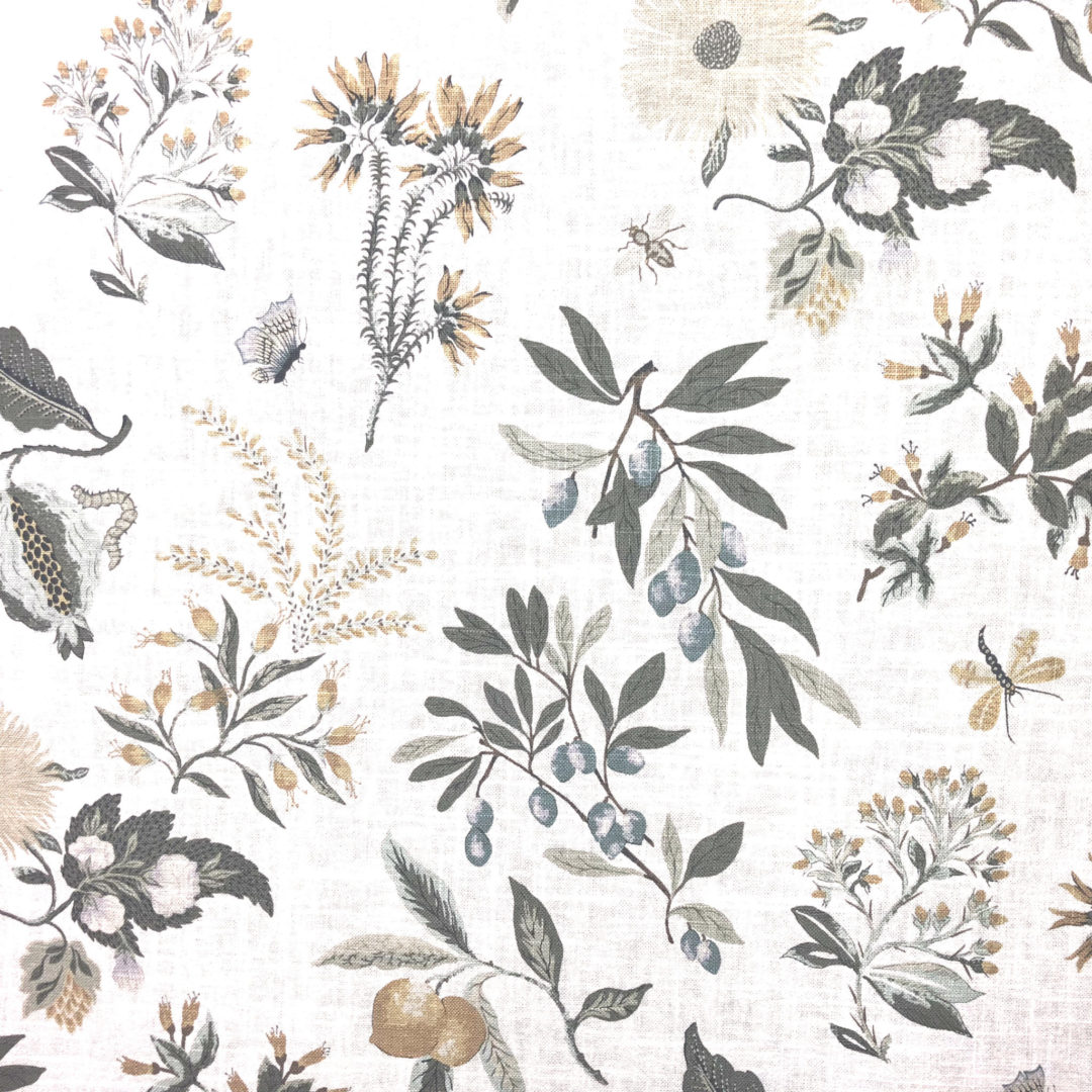 Fleur Botanical - La Mer from The Fabric House, online fabric store, buy fabric online, decorator fabric, designer fabric.