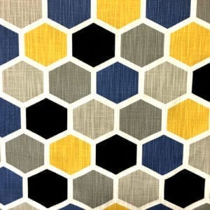 Hexagon - Brazilian Yellow - Discount Designer Fabric - fabrichousenashville.com