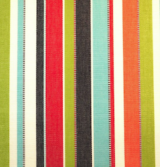 Sunbrella fabric with multicolored stripes - The Fabric House, outdoor fabric, upholstery fabric, buy fabric online, online fabric store.