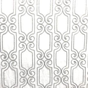 Booker - Silver White - Discount Designer Fabric - fabrichousenashville.com