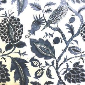 Nightingale - Indigo - Discount Designer Fabric - fabrichousenashville.com