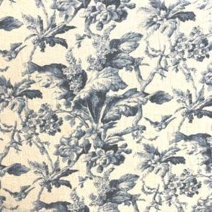 Southern Belle - Midnight - Decorator Fabric - Designer Fabric for Custom window treatments - fabric stores Nashville TN