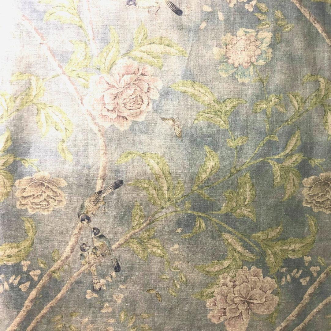 Paradiso Linen - Medici Blue - Discount Designer Fabric - fabrichousenashville.com