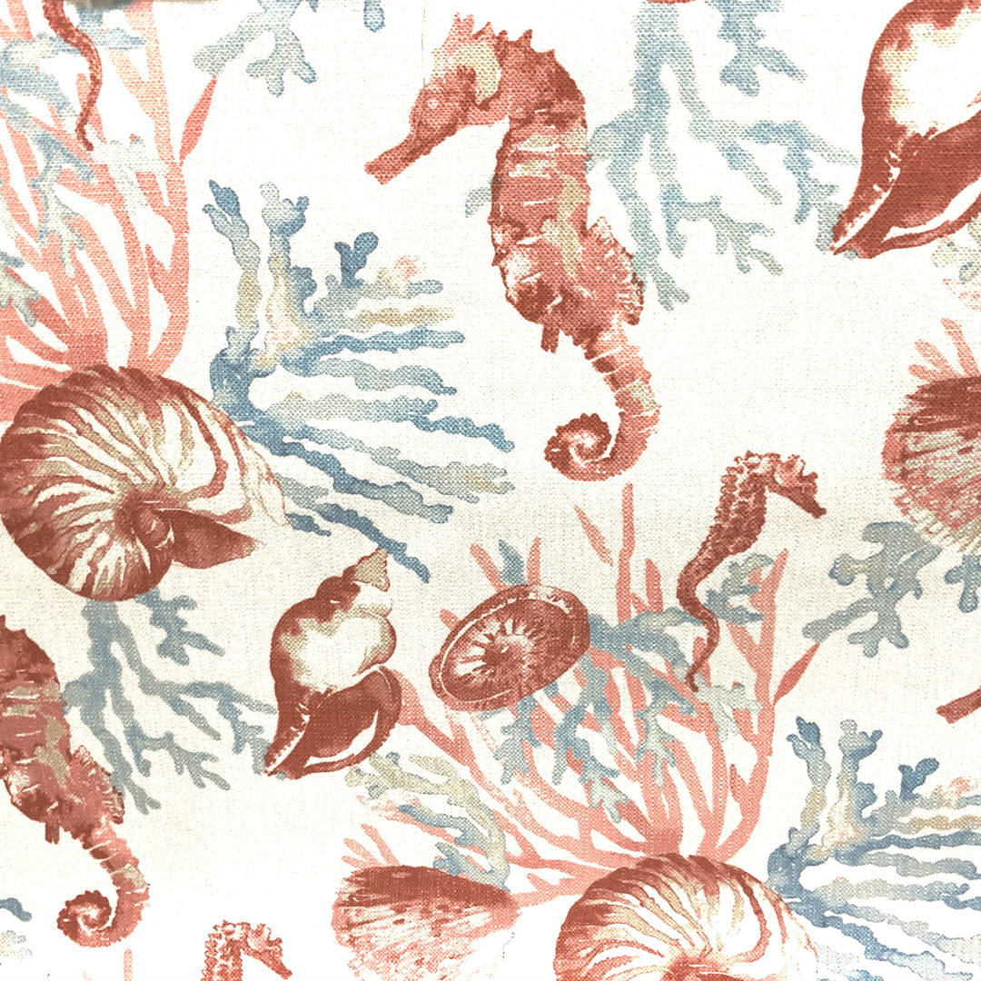 La Concha - Coral - Discount Designer Fabric - fabrichousenashville.com