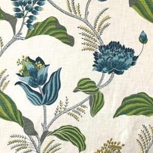 Sylvie - Azure - Decorator fabric from online fabric store, fabrichousenashville.com