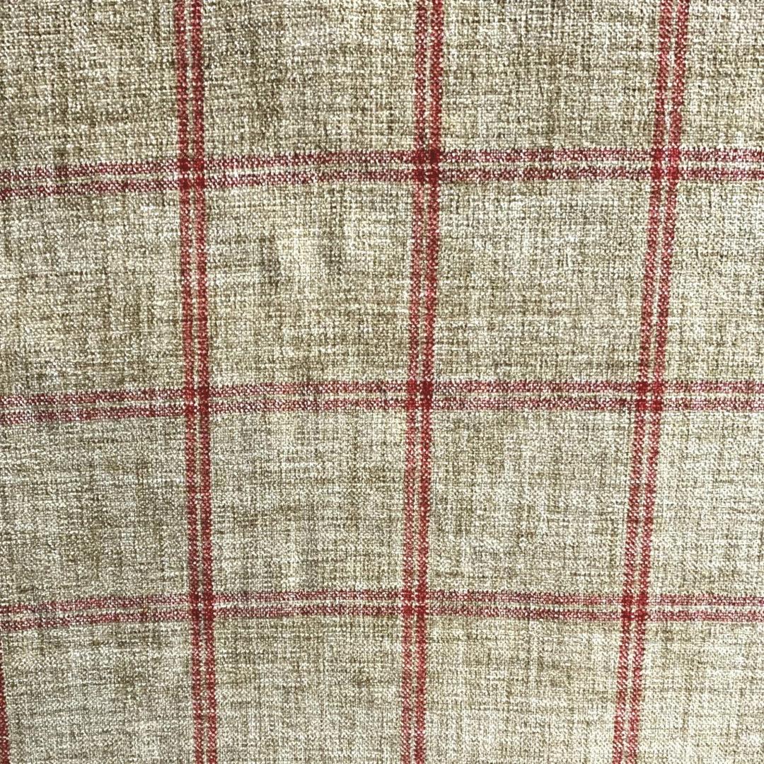 Campbell - Crimson - Designer & Decorator Fabric from #1 Online Fabric Store